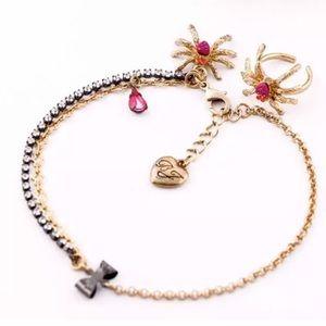 Betsey Johnson Spider Ankle Bracelet & Toe Ring
